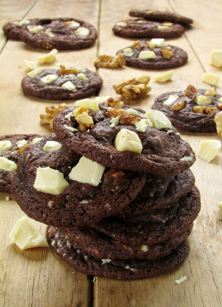 Soft and Chewy Walnut White Chocolate Chunk Chocolate Cookies | Recipe