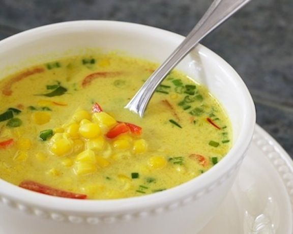 Nearly-Instant Thai Coconut-Corn Soup from Vegan Express | Eat with a ...