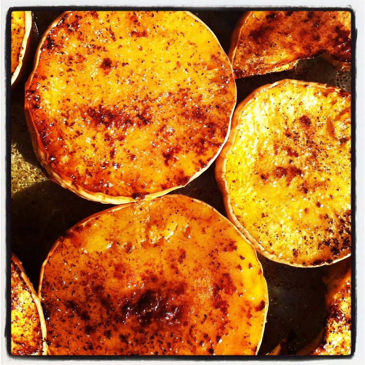 Butternut squash roasted with pumpkin pie spice and chili powder. Will ...