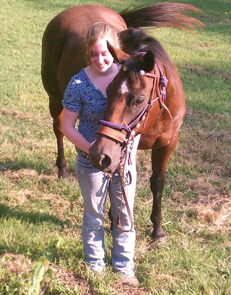 Love this picture that mom took tonight. :) He followed me around the pasture everywhere. Love him so much