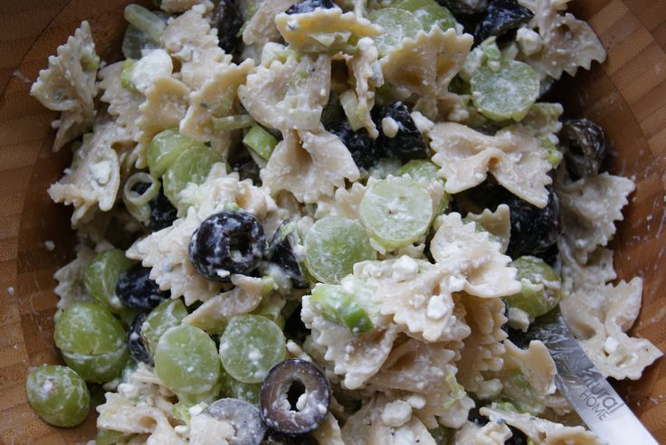 Blue Cheese pasta Salad; I've found if you mix the pasta and blue ...