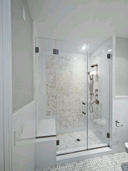 Shower tile and glass door  Remolding ideas for project 2013  Pinte ...