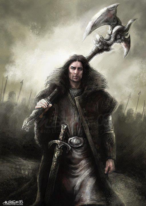 warrior with axe   Fantasy   Pinterest