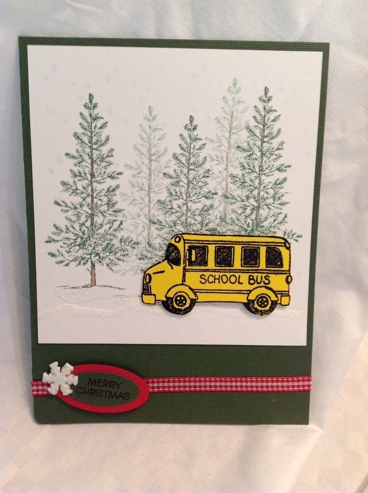 School bus christmas cards quot sher with love pinterest