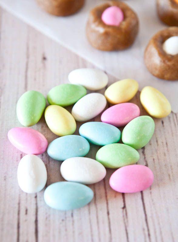"Egg""-in-a-Nest Stuffed Peanut Butter Cookie Dough Bites (No-Bake ..."
