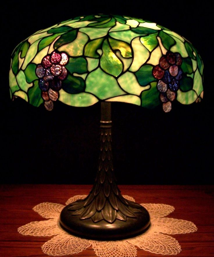 antique suess leaded glass lamp for sale at 5000. Black Bedroom Furniture Sets. Home Design Ideas
