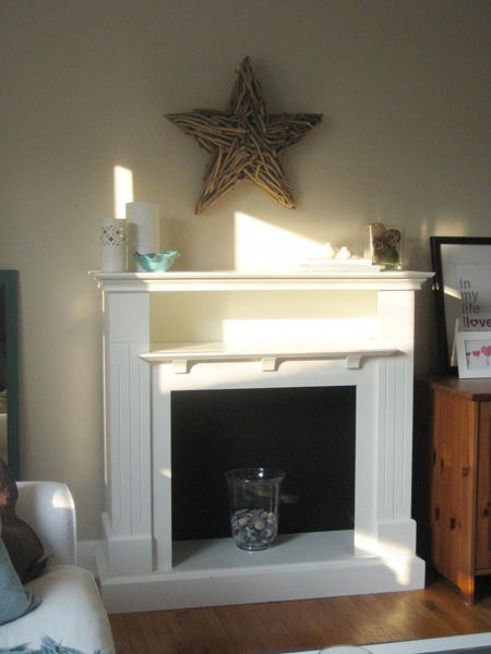 faux fireplace mantel with storage shelf for the home pinterest
