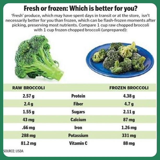 Fresh vs frozen frozen food are more nutritious than fresh ones e g