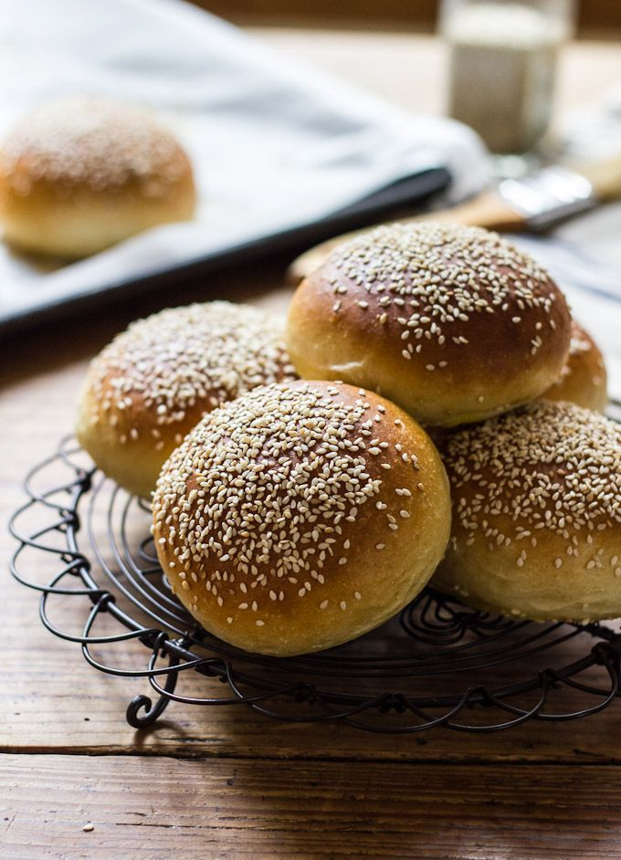 light brioche hamburger buns {whole wheat} - The Clever Carrot