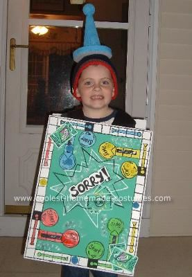 Gameboard costume my 6 year old son s favorite game is sorry and