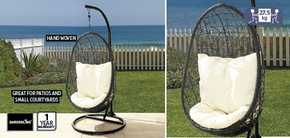 Hanging Egg Chair Aldi $249 | Our New House | Pinterest