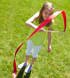 Fun-O-lympics Ribbon Wand: Go for the gold with a ribbon streamer wand that's perfect for rhythmic gymnastics in your own backyard.