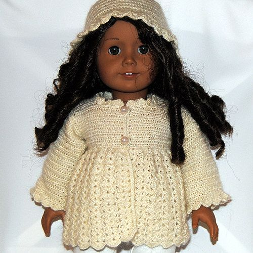 ... - PDF Crochet Pattern - American Girl Doll Clothes 31 - Jacket