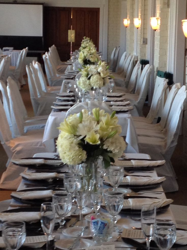 Ivory Reception Table Bouquets Wedding Ideas Pinterest