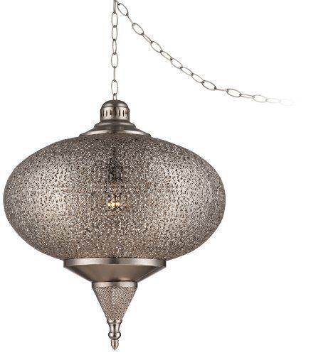 plug in swag pendant ceiling pendant fixtures home improvement. Black Bedroom Furniture Sets. Home Design Ideas