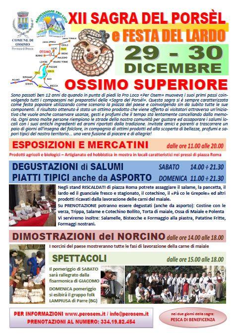 XII Sagra del Porsel e Festa del Lardo a Ossimo http://www.panesalamina.com/2012/7450-xii-sagra-del-porsel-e-festa-del-lardo-a-ossimo-superiore.html