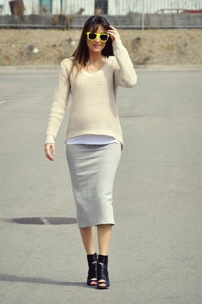 Heather-gray-pencil-skirt-my-own-design-skirt