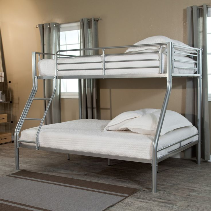 Duro Wesley Twin over Full Bunk Bed - Silver $399.99