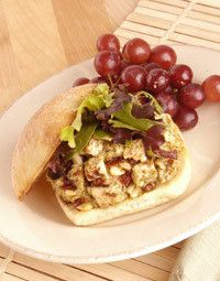 Pesto Chicken Salad Sandwich: Pesto, pine nuts, cranberries and ...