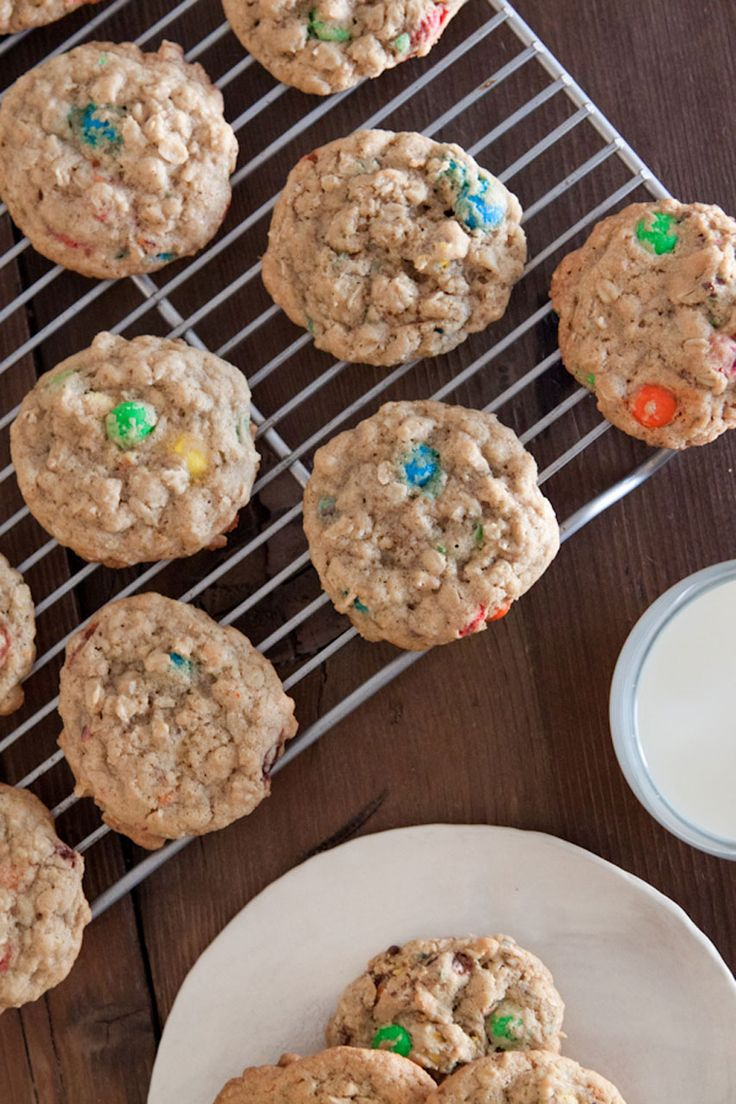 chewy m amp m oatmeal cookies recipe added 1 tsp cinnamon and used the ...