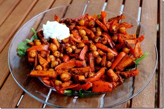 sweet potato and chickpea stir fry | recipes to try | Pinterest