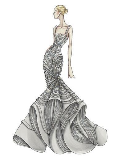 versace sketch   Drawings/ Paintings   Pinterest