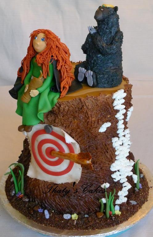 tree trunk base brave cake