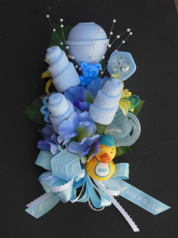 baby shower corsage daddy big sister grandmother or mommy boutonn