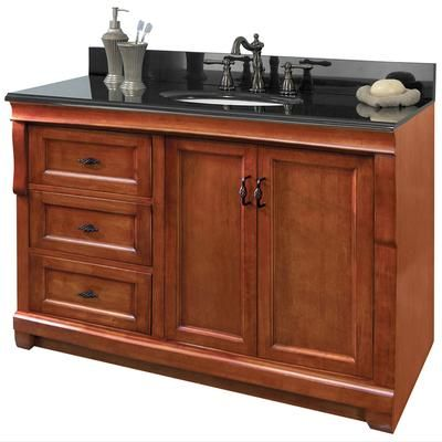 48 inch vanity with left drawers naca4821dl home depot canada