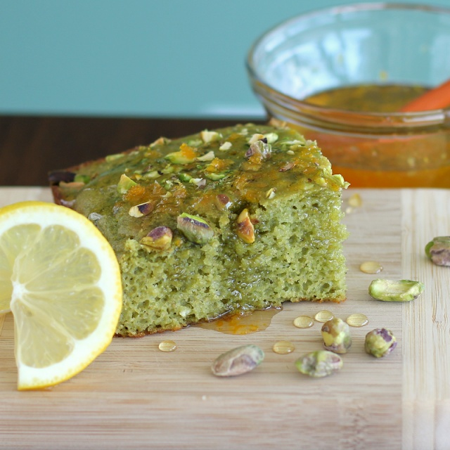Healthy Pistachio Snacking Cake with Citrus Glaze   Recipe