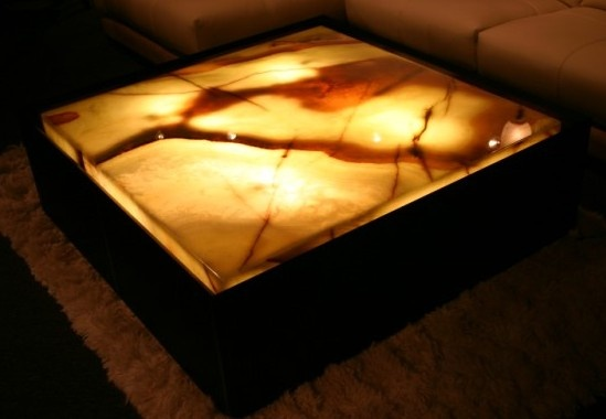 Green Onyx Lighted Cocktail Table For The Home Pinterest
