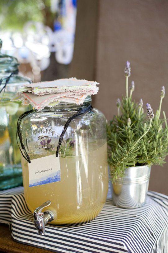 Lavender Lemonade Makes about 1 1/2 quarts 1 cup sugar 5 cups water ...