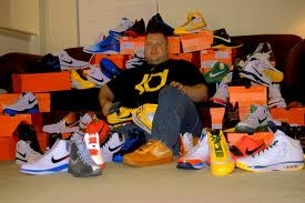 this dude has three. He s fat, he s ugly, AND he has too many shoes