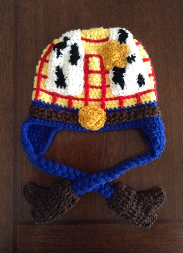 Knitting Pattern Toy Story Characters : Toy story inspired Woody crochet Hat