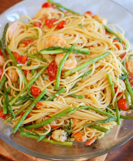 Shrimp, Asparagus, and Roasted Tomato Carbonara | Food | Pinterest