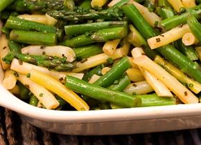 Asparagus, Green Bean, and Wax Bean Salad Recipe #salad