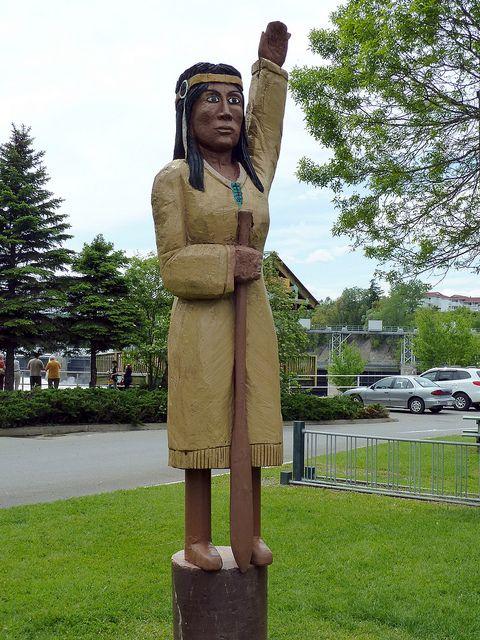 Grand Falls (NB) Canada  city pictures gallery : ... nb canada   Malobiannah Statue, Grand Falls, New Brunswick, Canada