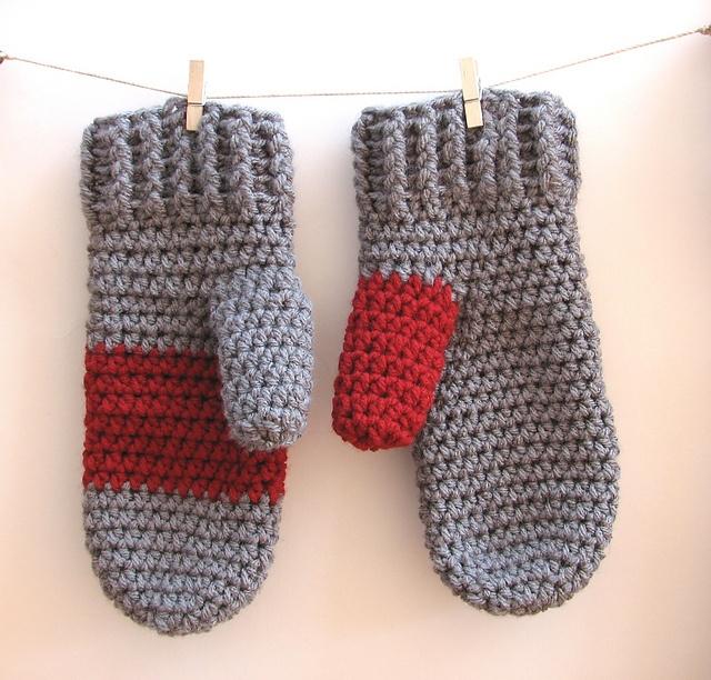 Crochet Mittens : Crochet Mittens pattern by Eva Unger