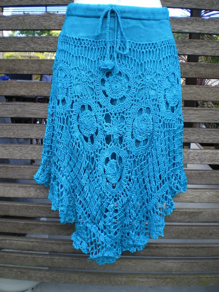 Crochet Skirt : Beautiful crochet skirt ; inspiration only; link does not go anywhere ...