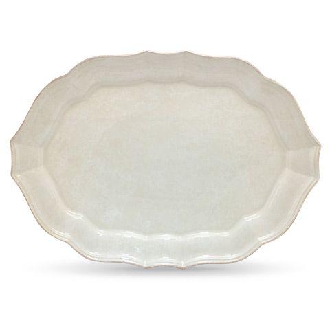 costa nova- impressions white oval platter 45 x 32 cm