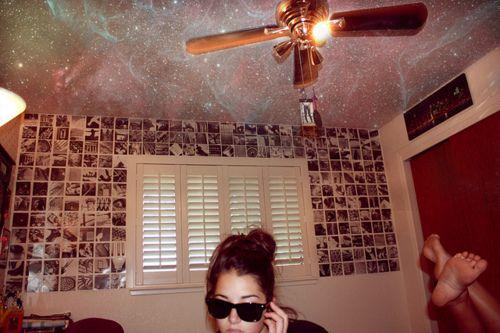 Tumblr bedroom teen galaxy ceiling hipster bedroom ideas pinterest - Tumblr teenage bedroom ...
