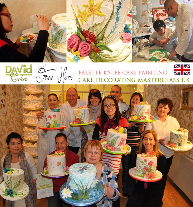 David Cakes free hand Royal Icing Palette knife Cake ...