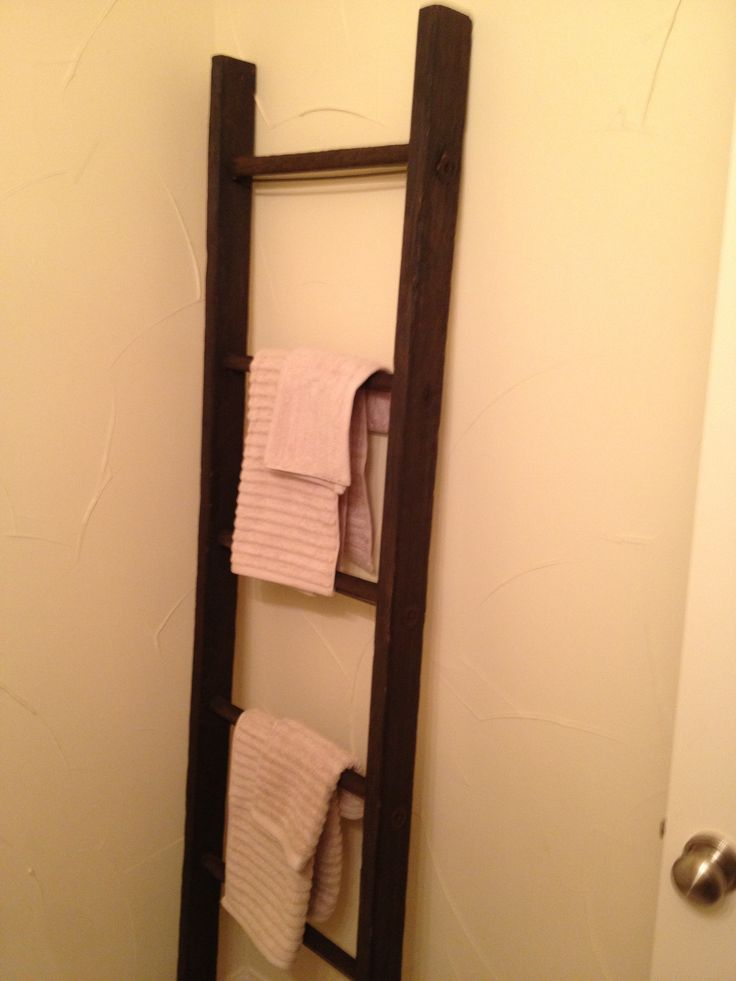 Ladder Towel Rack For Small Bathroom For The Home Pinterest