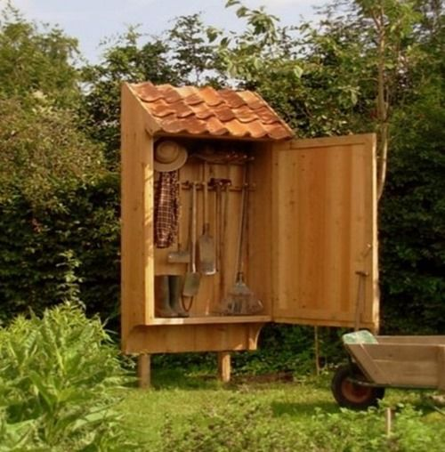 garden tool storage cabinet traditonally made by dirk mortier