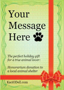 the animal lover in your life in this holiday season? Here's a gift ...