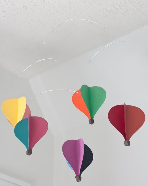 Diy Hot Air Balloon Mobile Tutorial Nursery Love Pinterest