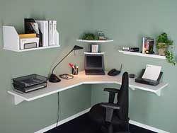 corner wall shelf desk  Office  Pinterest