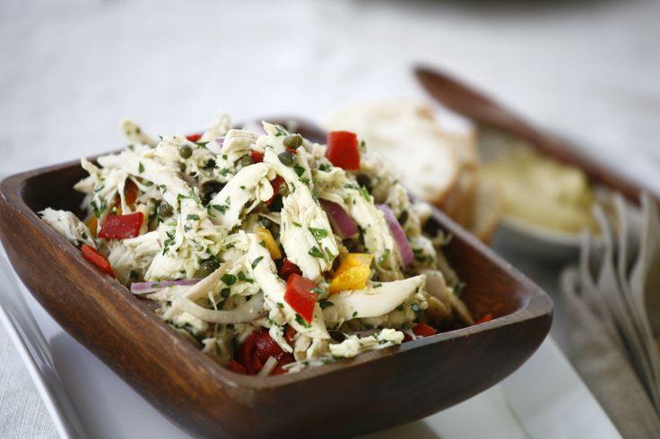 ... quick vinaigrette! // Italian-Style Chicken Salad #recipes #sandwiches