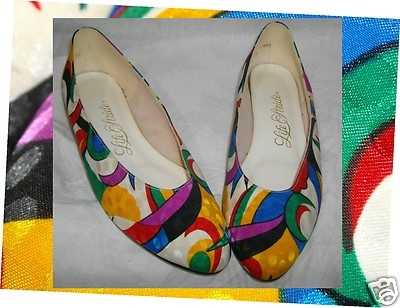 Colorful ABSTRACT Color Block   Vintage Shoes