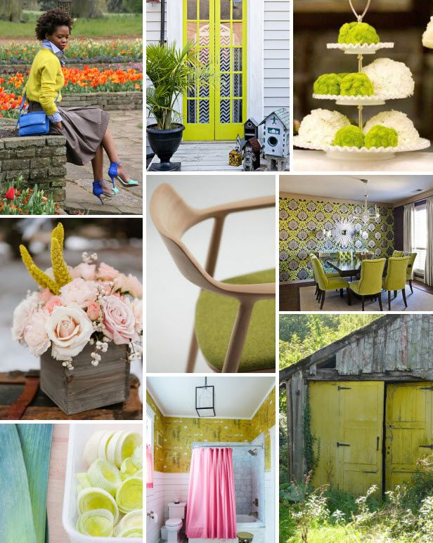 Mood Board Monday: Chartreuse (http://blog.hgtv.com/design/2014/03/17/mood-board-monday-chartreuse/?soc=pinterest)